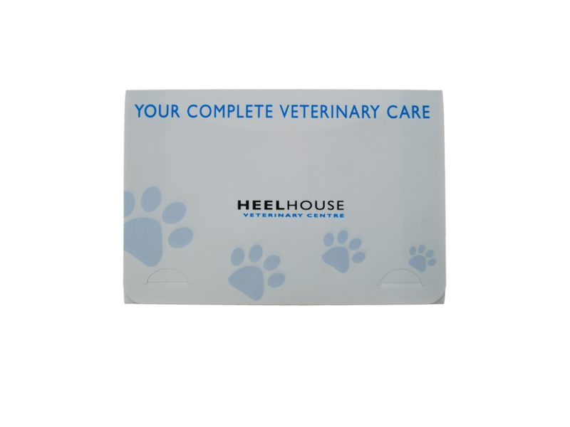 bespoke folders, printed folders, print, digital print, polypropylene folder, veterinary folder, veterinary care, celsur