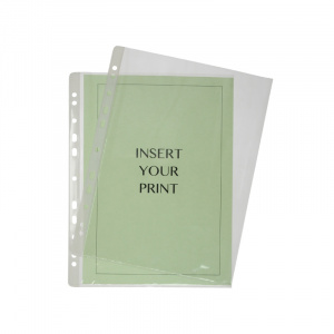 A4 Glass Clear Polypropylene Pocket - 50 Micron, binder pocket, punched pocket, office pocket a4 pocket