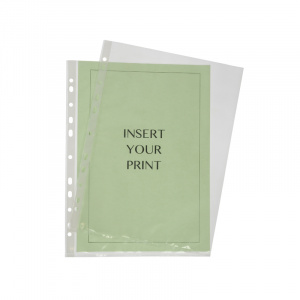 A4 Polypropylene Pocket - 60 Micron, binder pocket, punched pocket, office pocket, a4 pocket, binder pocket