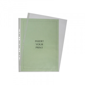 A3 Polypropylene Pocket - 60 Micron, binder pocket, punched pocket, office pocket a3 pocket, binder pockets