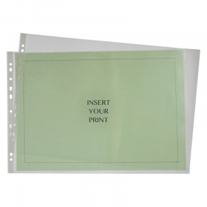 A3 Landscape Polypropylene Pocket - 60 Micron, binder pocket, punched pocket, office pocket a3 pocket