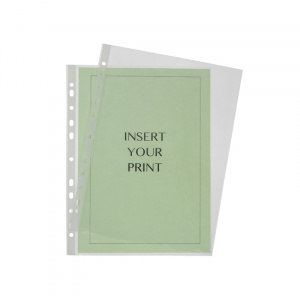 A4 Polypropylene Pocket - 90 Micron, binder pocket, punched pocket, office pocket a4 pocket, binder pocket