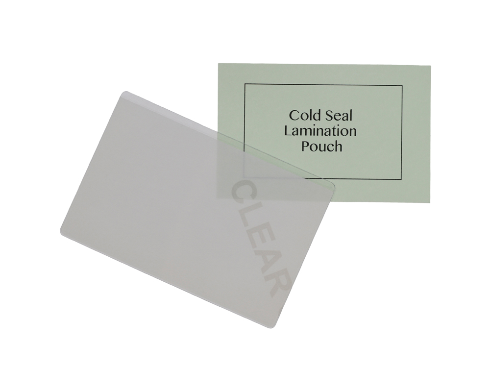 Credit Card cold seal lamination pouch. Pouch size 86mm x 54mm - 400 ...