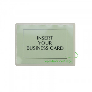 Self Adhesive Pocket for Large Business Cards.