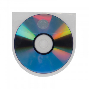 Self Adhesive CD/DVD Pocket Round with Flap