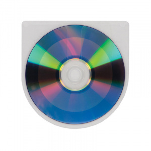 Self Adhesive CD/DVD Pocket Round - No Flap