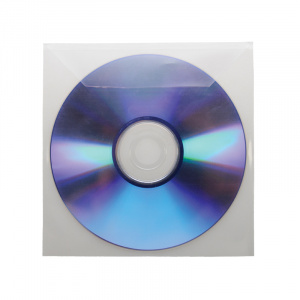 Single CD/DVD Pocket with Flap, cd pocket, dvd pocket, cd adhesive pocket, dvd adhesive pocket, data disc pocket, pocket for cd