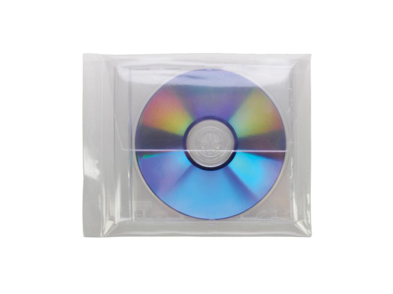 Single CD/DVD Pocket to take Jewel Case, cd pocket, dvd pocket, cd adhesive pocket, dvd adhesive pocket, data disc pocket, pocket for cd