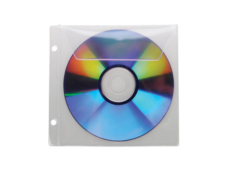 Single CD/DVD Pocket with Flap