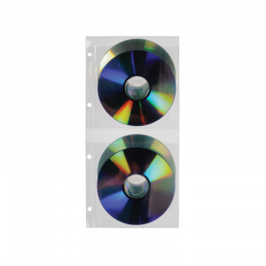 Double CD/DVD Pocket - 4 Pockets per page