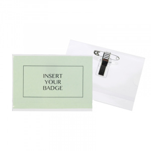 Large Conference Badge Holder - Dual Clip & Pin