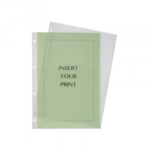 A4 Punched Heavy Duty Filing Pocket - 140 Micron, binder pocket, punched pocket, office pocket a4 pocket, binder pockets