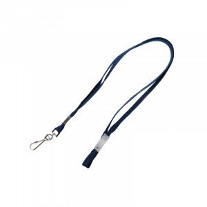 Dark Navy Breakaway Lanyard - Metal Dog Clip