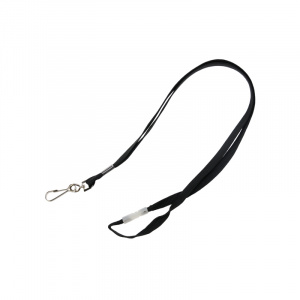 Black Breakaway Lanyard - Metal Dog Clip