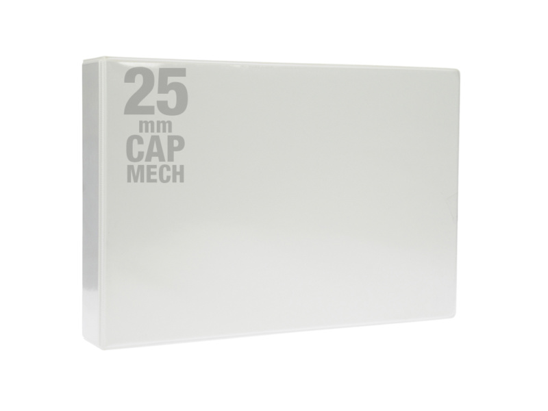 A3 White PVC Binder - Fitted 4D 25mm Mechanism, White PVC Binder, landscape binder, cheap binder, office stationery binder, stationery binder, bespoke binders, bespoke cheap binders