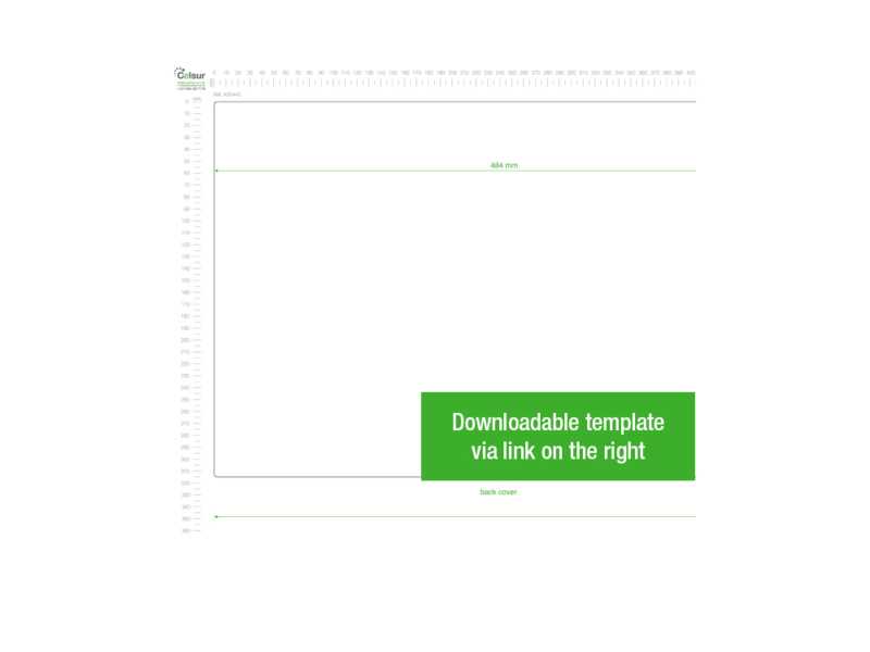 A3 White PVC Binder - Fitted 4D 40mm Mechanism, White PVC Binder, template, black PVC binder, binder template, stationery template, stationery binder, 2D binder,