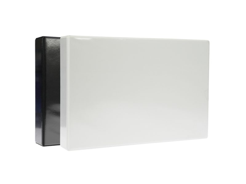 A3 White PVC Binder - Fitted 4D 40mm Mechanism