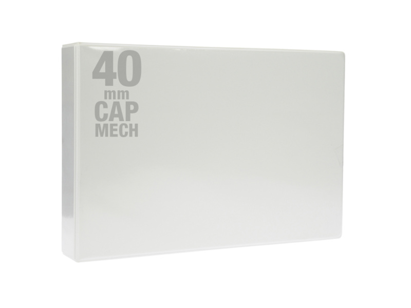 A3 White PVC Binder - Fitted 4D 40mm Mechanism, White PVC Binder, landscape binder, cheap binder, office stationery binder, stationery binder, bespoke binders, bespoke cheap binders