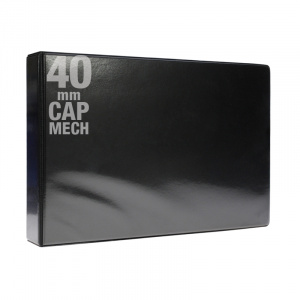 A3 Black PVC Binder - Fitted 4D 40mm Mechanism, black PVC binder