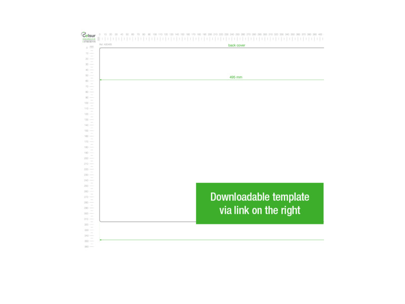 A3 White PVC Binder - Fitted 4D 65mm Mechanism, White PVC Binder, template, black PVC binder, binder template, stationery template, stationery binder, 2D binder,