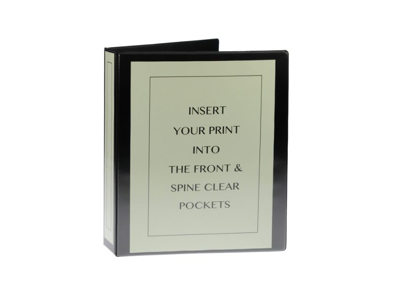 A4 Black PVC Binder - Fitted 2LA 65mm Mechanism, binder, pvc binder, office binder, office stationery, black binder, Black PVC Binder