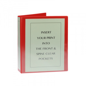 A4 Red PVC Binder - Fitted 4D 25mm Mechanism, red binder, binder, pvc binder, office binder, office stationery