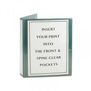A4 Green PVC Binder - Fitted 4D 40mm Mechanism, green binder