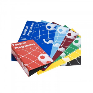 Blue Football Programme Binder, programme binder