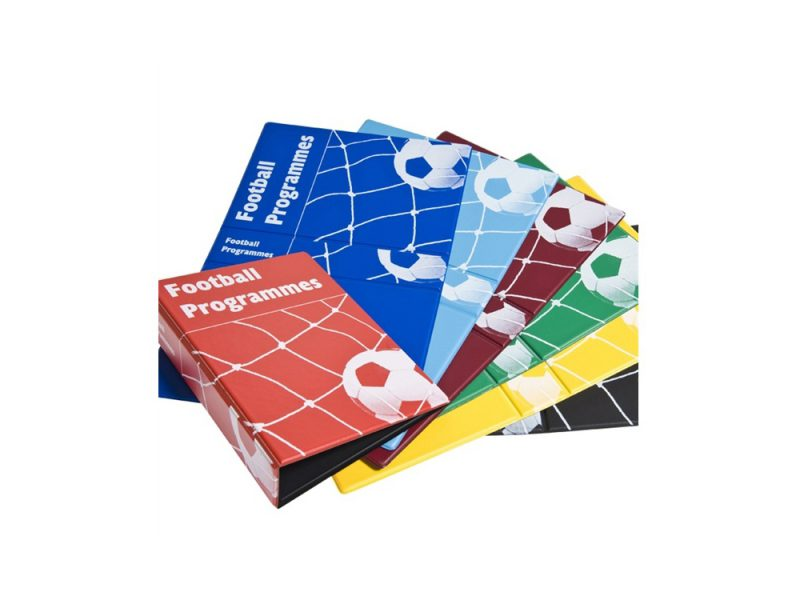 Box of 5 Red Football Programme Binders, programme binder