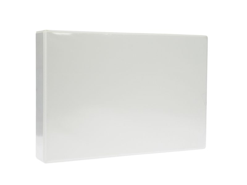 A4 White Landscape PVC Binder - Fitted 4D 25mm Mechanism, binder, pvc binder, office binder, office stationery, White Landscape PVC Binder