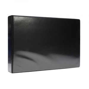 A4 Black Landscape PVC Binder - Fitted 4D 25mm Mechanism