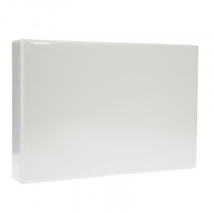 A4 White Landscape PVC Binder - Fitted 4D 65mm Mechanism, binder, pvc binder, office binder, office stationery