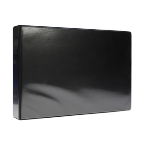 A4 Black Landscape PVC Binder - Fitted 4D 65mm Mechanism, binder, pvc binder, office binder, office stationery