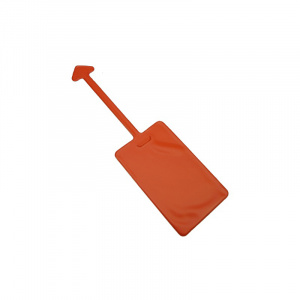 Orange Luggage Tag