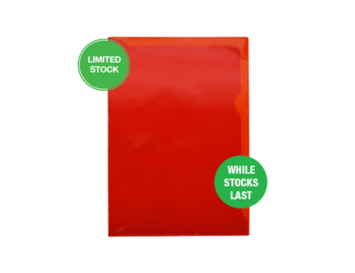 Red PVC Letterfile