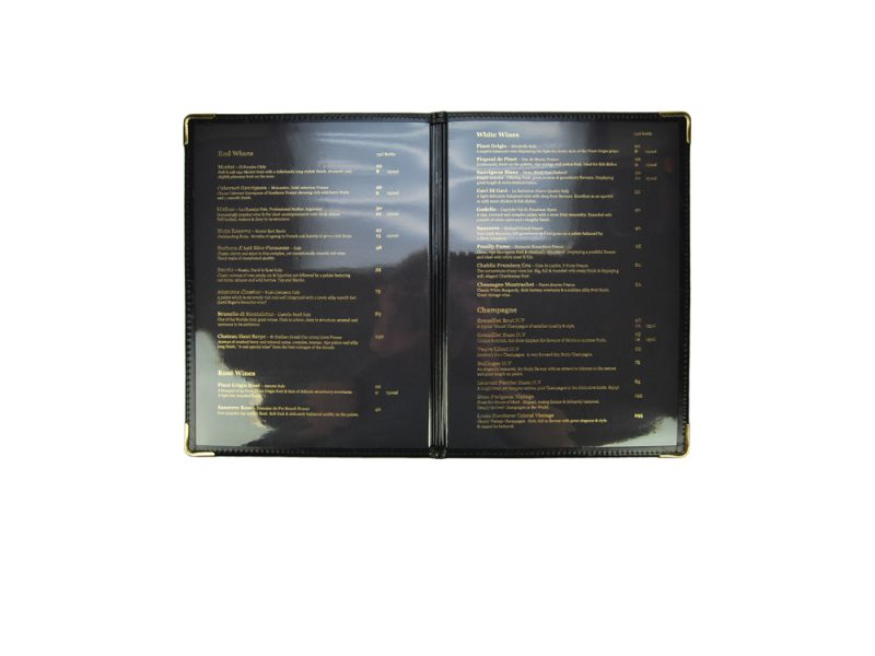 custom restaurant menu covers, stitched product, leather, pu stitched, stitched stationery