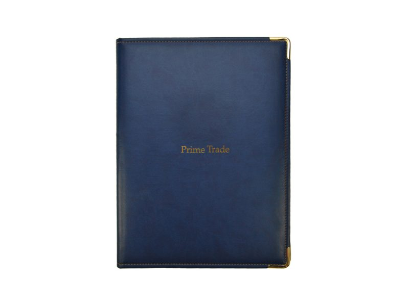 bespoke conference folders, stitched product, leather, pu stitched, stitched stationery, foil blocking