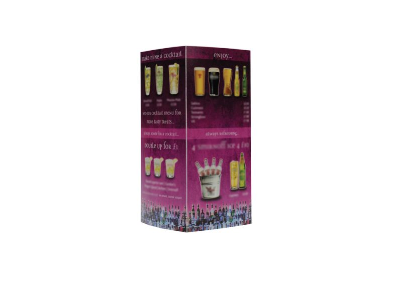 drink menu covers, digital print, print service, polypropylene print,