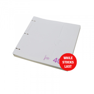 Professional Range CD Storage Binder White 40.4, CD disc storage, cd binder, cd pocket, dvd, dvd pocket, dvd binder, blu-ray, blu-ray storage, blu-ray binder, blu-ray pocket