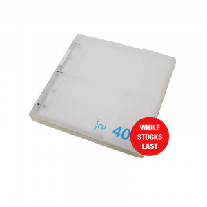 Professional Range CD Storage Binder Frosty 40.4, CD disc storage, cd binder, cd pocket, dvd, dvd pocket, dvd binder, blu-ray, blu-ray storage, blu-ray binder, blu-ray pocket